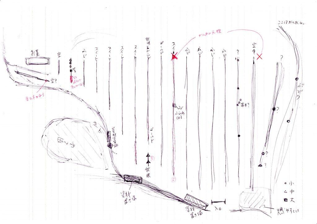 りんご畑の地図(手書き)